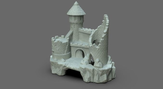 fish castle 3d model obj 1