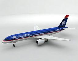 Boeing 757-200 Airliner - US Airways 3D model