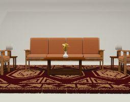 3D model game-ready Furniture Set