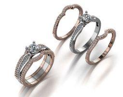 3D print model diamond fashion ring jewelry design 222