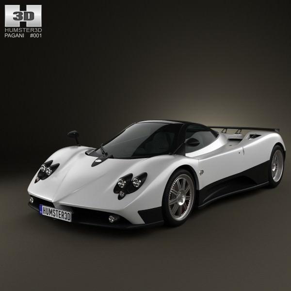 Pagani Zonda F 2005 3D model | CGTrader