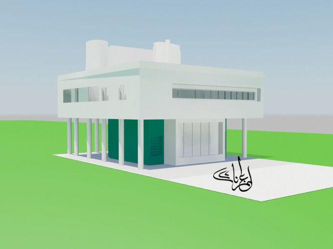 3D asset Villa Savoye le corbusier | CGTrader