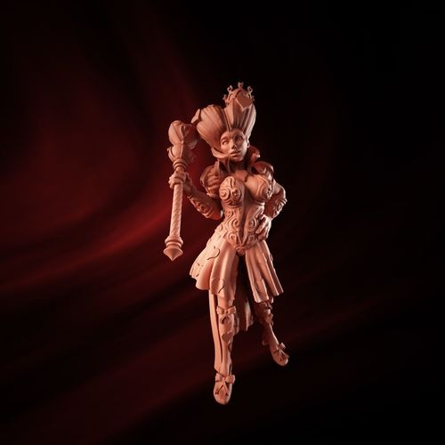queen of hearts 3d model obj mtl c4d stl 1