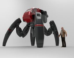 SpiderBot Vehicle All Terrain Concept 3D