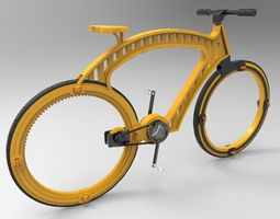 Hubless Bicycle Concept Design 3D model