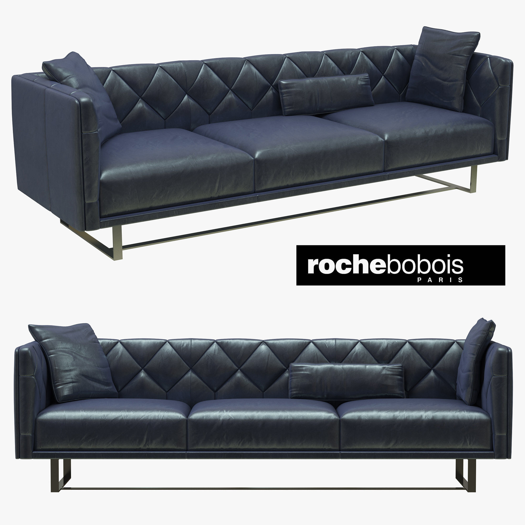 Roche Bobois Up To Date Large 3 Seat Sofa Model Max Obj Mtl S