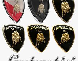 Lamborghini Badge History Collection 3D model