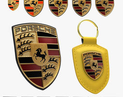 Porsche Crest History Collection 3D