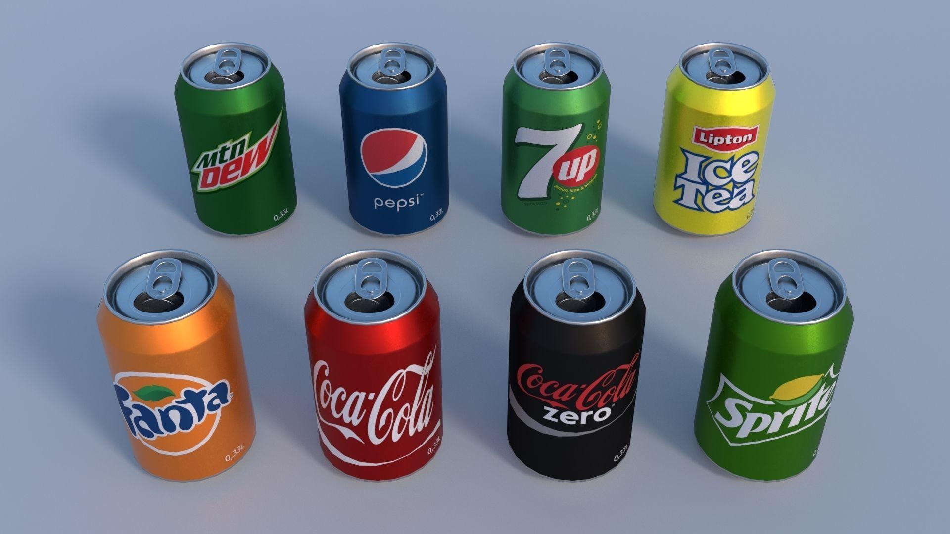 Soda cans PBR