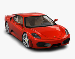 Ferrari F430 Berlinetta 3D asset low-poly