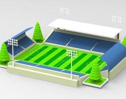 Stadium 3D model low-poly