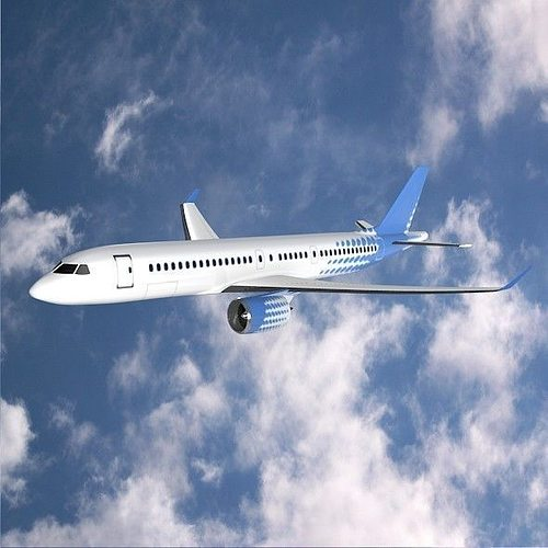 bombardier cs300 commercial airplane 3d model obj mtl 3ds fbx lwo lw lws blend dae 1