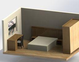 oak bedroom 3D model