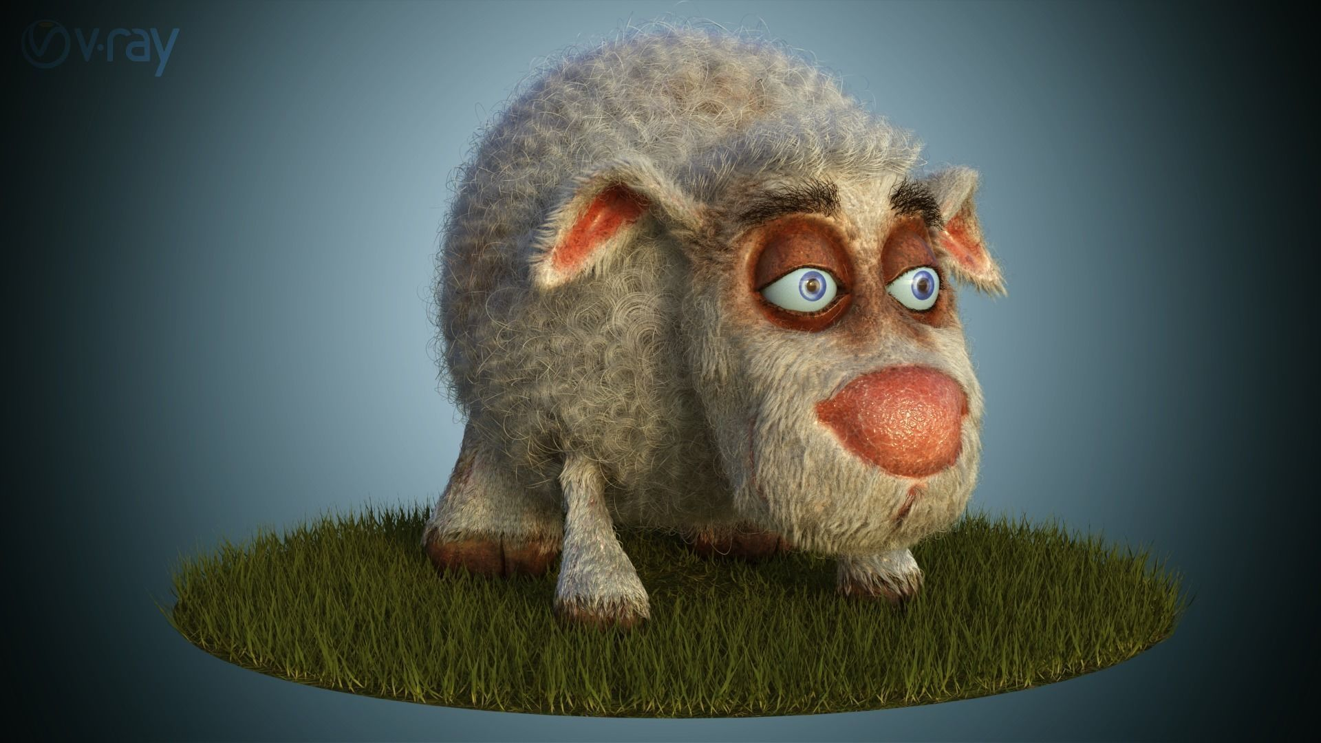 Sheep Dog for production render in Vray