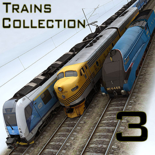 trains collection 3 3d model low-poly max 1