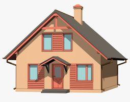 3D model Idyllic Cartoon House