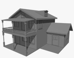 Residential Two Floor House 3D