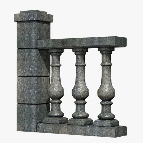 stone baluster 3d model obj 3ds fbx c4d dxf dae 1
