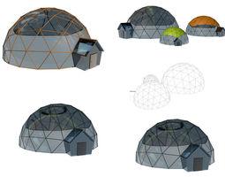 3D Geodesic Houses