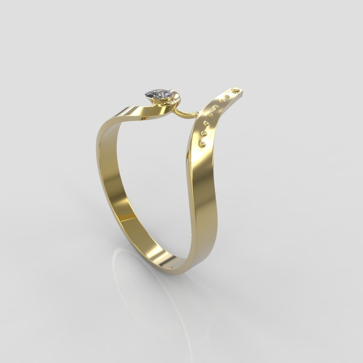 Gold ring 07 3d model 3d printable obj stl cgtradercom for Gold ring models with letters