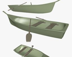 3D model Small Wooden Boat