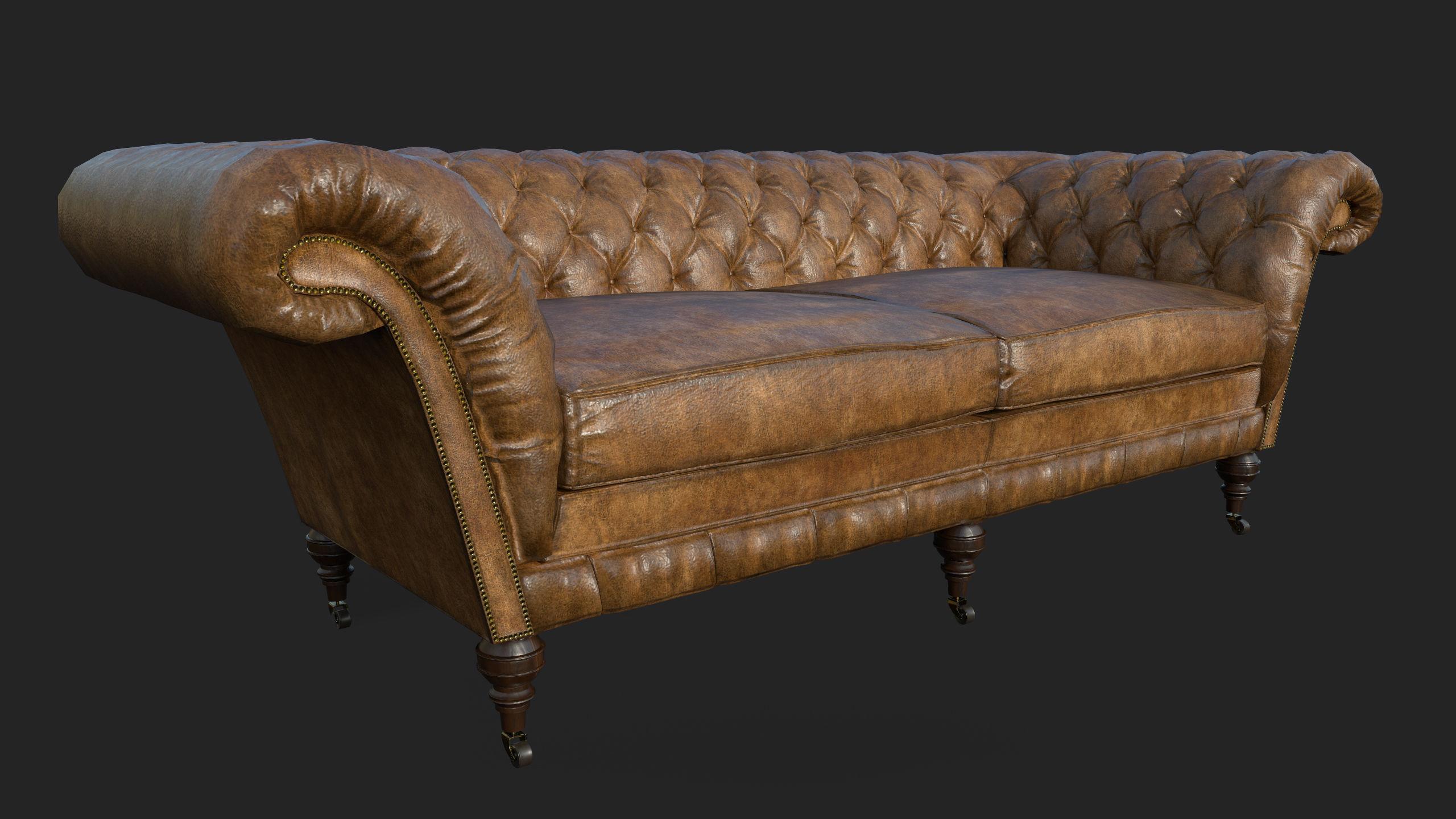 Classic Chesterfield Sofa | 3D model