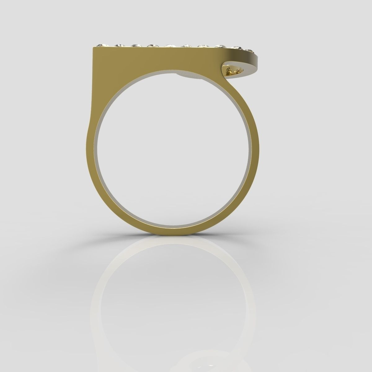 Gold ring 12 3d model 3d printable obj stl cgtradercom for Gold ring models with letters