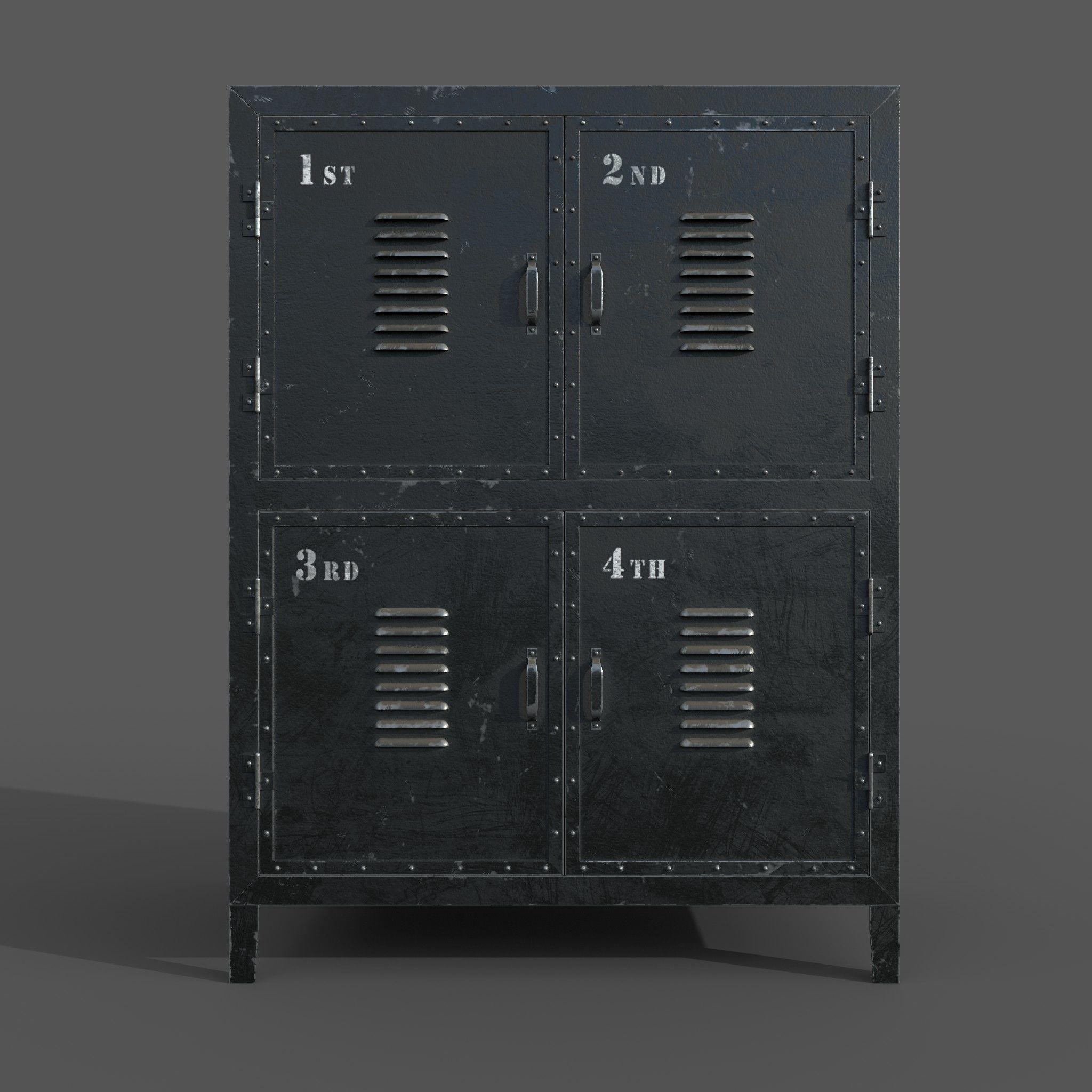 Vintage Cabinet 3d Model Max Obj Mtl Mdl 2