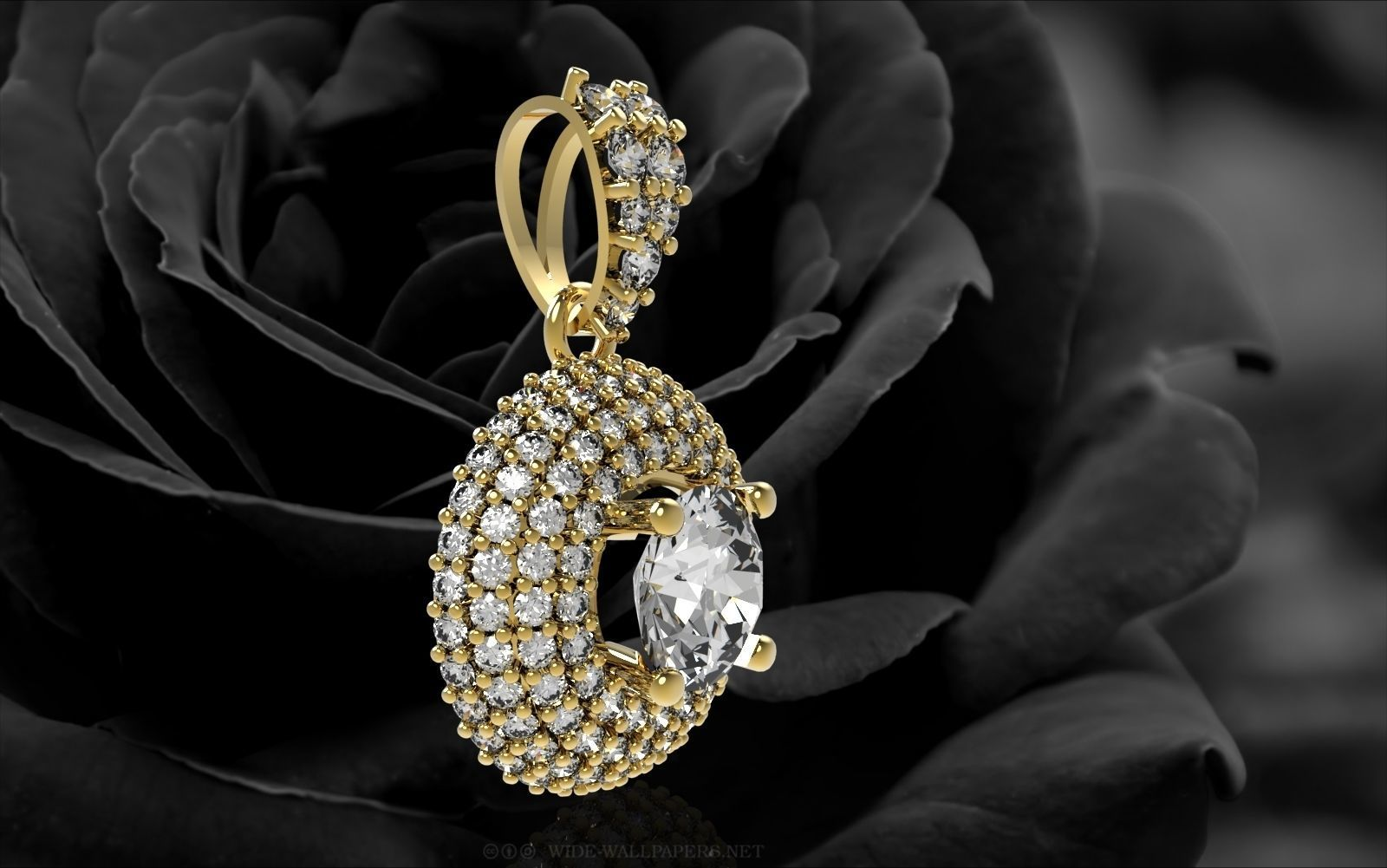 3d printable model 349 diamond pendant for women 349 diamond pendant for women 3d model stl 2 aloadofball Images
