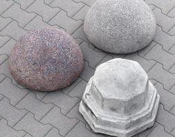 Concrete barriers 3D model