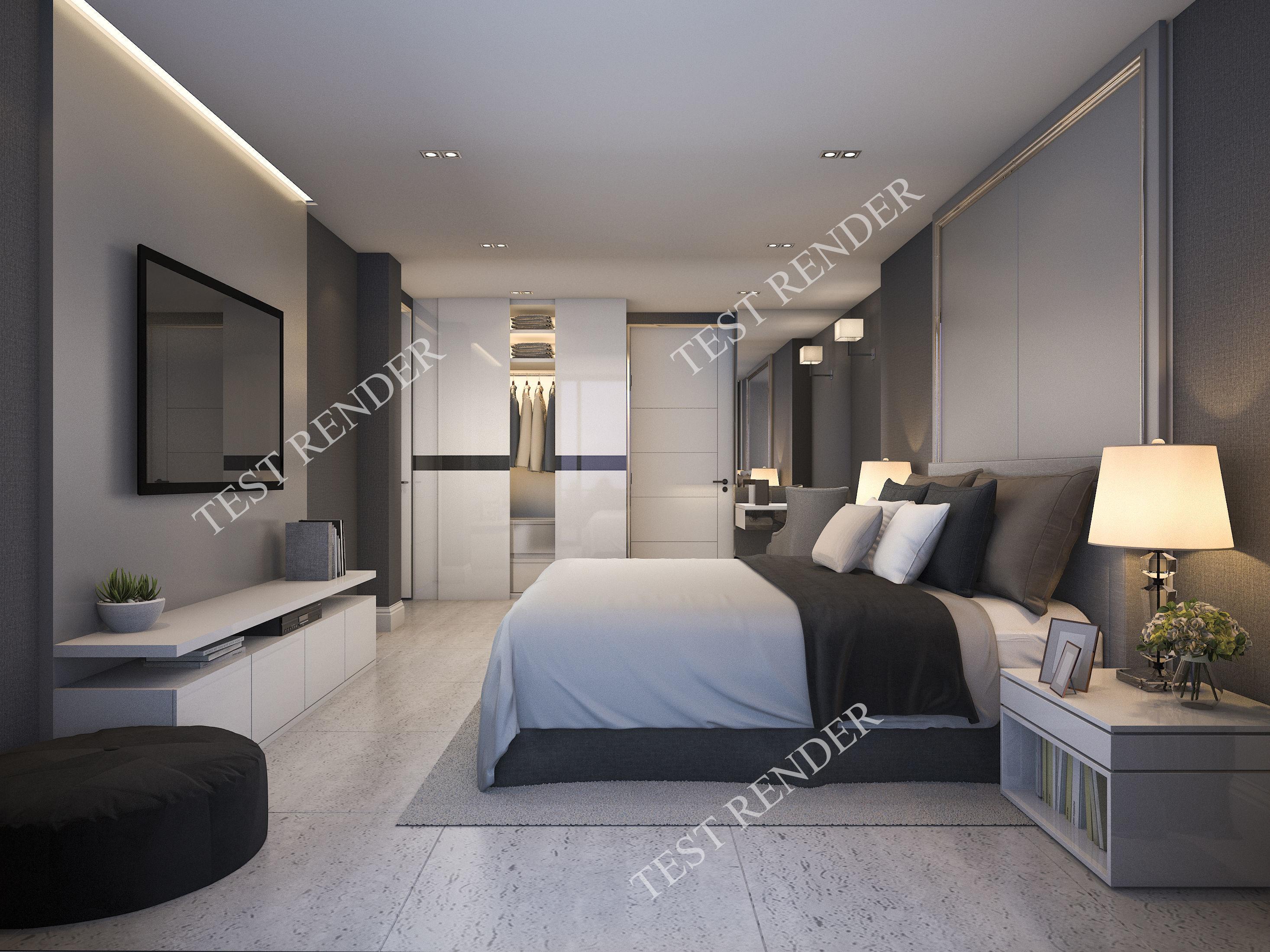 bedroom modern luxury. 3d Modern Luxury Bedroom Suite In Hotel With Wardrobe Model Max 3ds Fbx 1