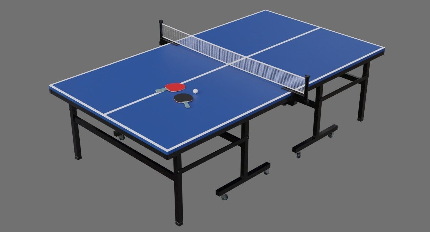 ... Ping Pong Table 2a 3d Model Low Poly Obj Fbx Blend Mtl 5 ...