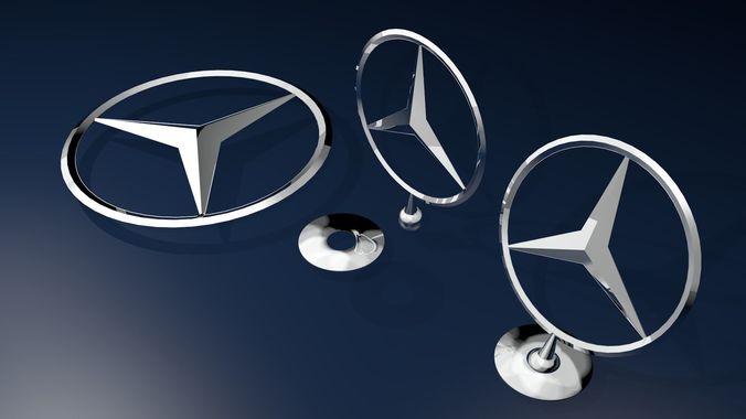 3d Model Mercedes Benz Logo Cgtrader