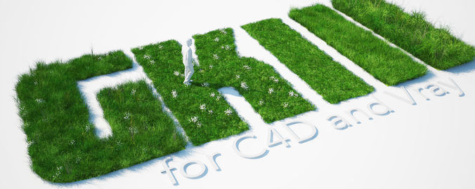 grass kit iii for c4d and vray 3 3d model c4d 1