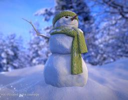 FREE Snowman - Game Ready 3D model