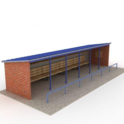 Baseball Stadium Dugout Bench 3d Model Cgtrader