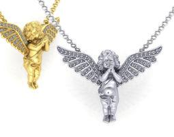 3D printable model Angel Diamond pendant