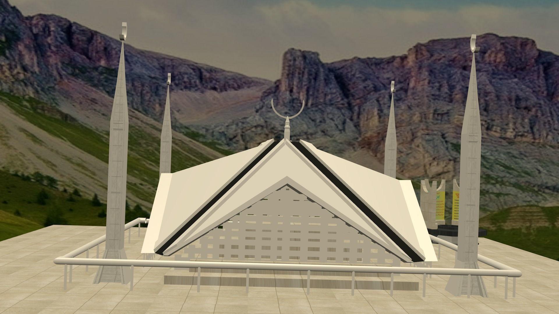 Faisal Mosque | 3D model