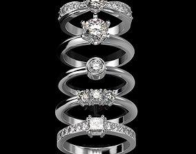 3D print model Classic ring pack