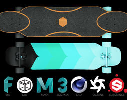 rigged Rigged Longboard - Factory New - 3d Model