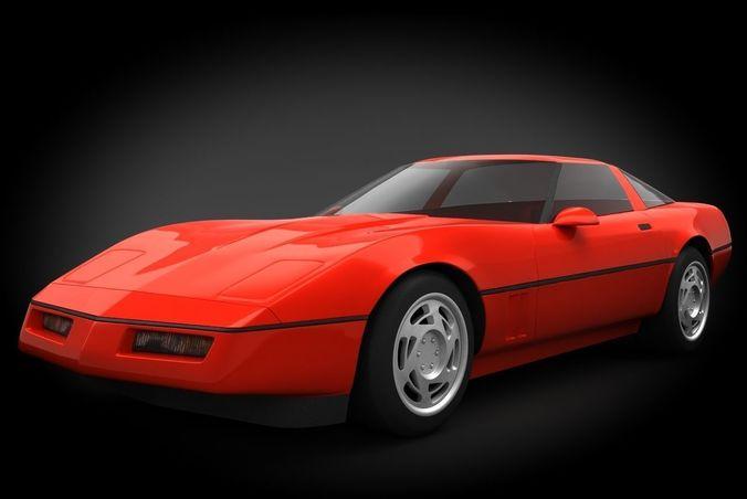 chevrolet corvette c4 coupe 3d model max obj mtl 3ds fbx dae 1