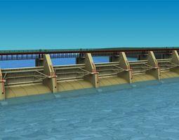 dam Sluice gate 3D