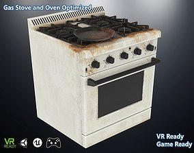 3D model Gas Stove and Oveen