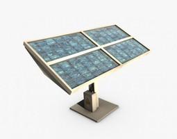 solar panel 3d model game-ready