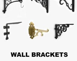 Wall brackets collection vol 1 3D