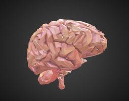 Low Polygon Art Medical Brain Real 3D model