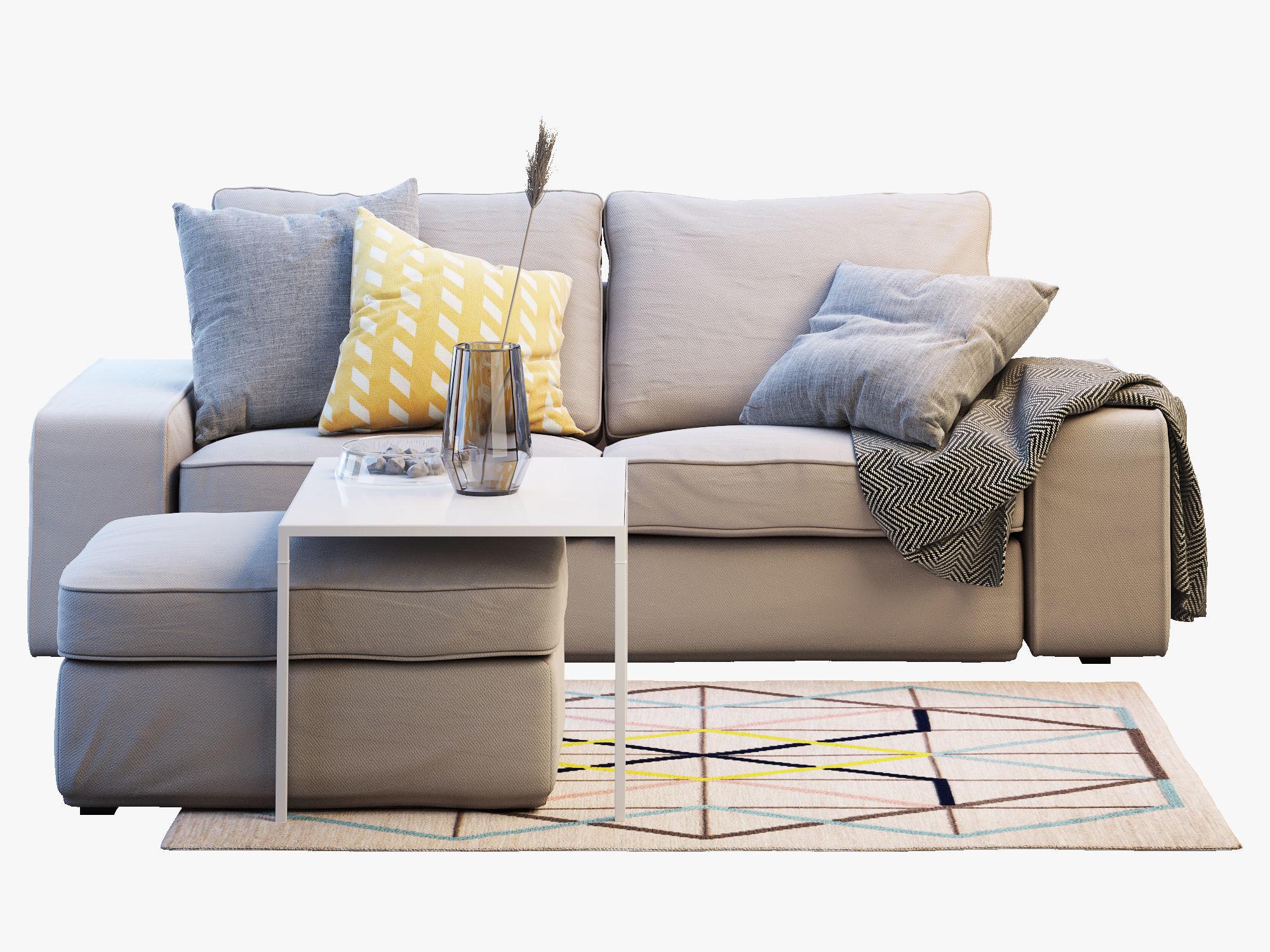 Two Seat Sofa IKEA KIVIK 2 3D CGTrader