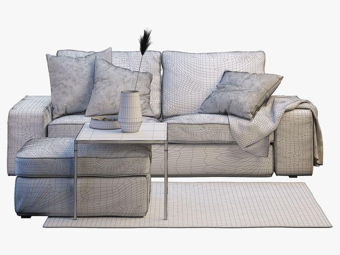 Two Seat Sofa Ikea Kivik 2 Model Max Obj Mtl Fbx 3