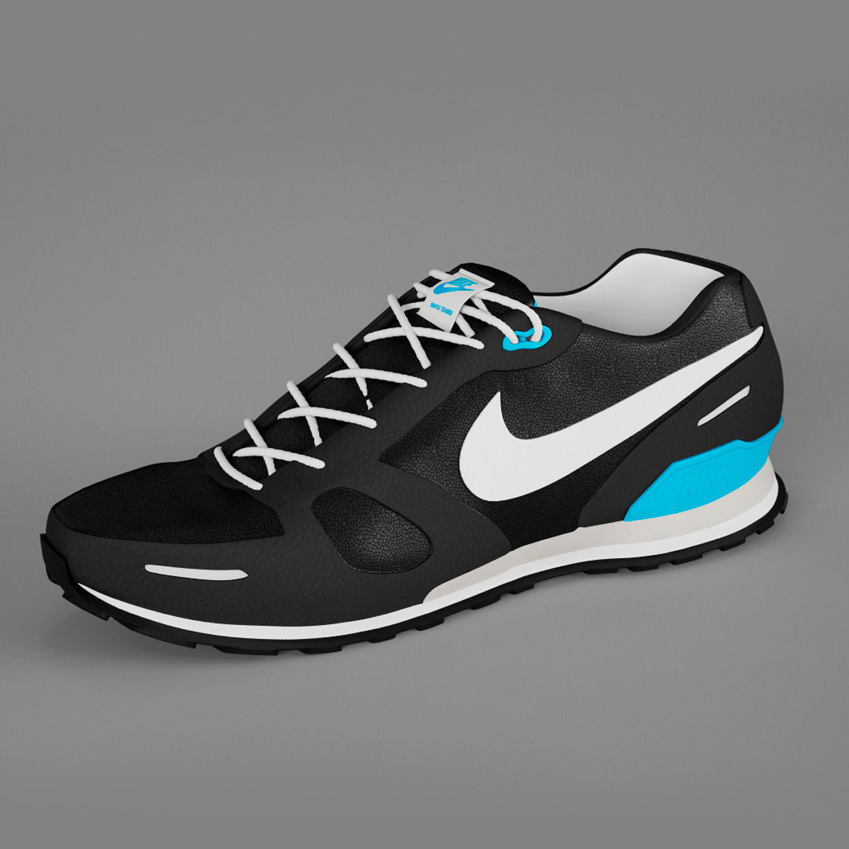 ... shoes nike waffle trainer 3d model max obj fbx mtl 6 ...