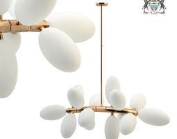 3D lamp Kingdom drape 16 designed by Lindsey Adelman